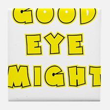 yellow, Good Eye Might, hot mustard Tile Coaster