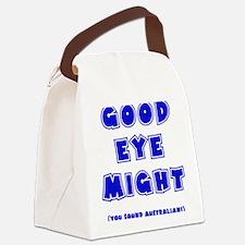 blue, Good Eye Might, hot mustard Canvas Lunch Bag