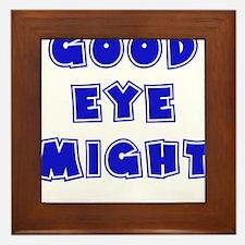blue, Good Eye Might, hot mustard Framed Tile