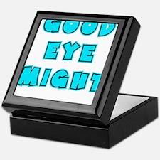 blue2, Good Eye Might, hot mustard Keepsake Box