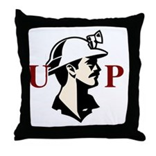 u.p.miner Throw Pillow