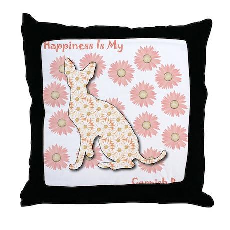 Rex Happiness Throw Pillow