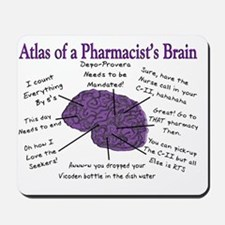 Atlas of a Pharmacists Brain 3 Mousepad