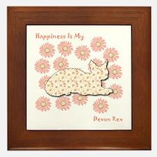 Rex Happiness Framed Tile