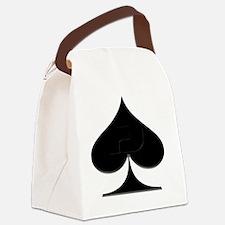 Spade Suit Canvas Lunch Bag