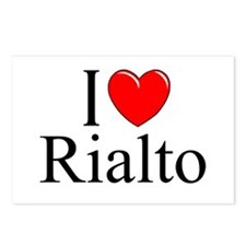 """""""I Love Rialto"""" Postcards (Package of 8)"""