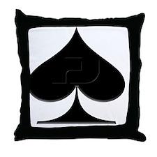Spade Suit Throw Pillow