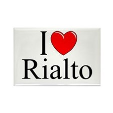 """I Love Rialto"" Rectangle Magnet"