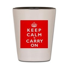 KEEP CALM n CARRY ON Shot Glass