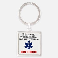 Don't Touch Square Keychain