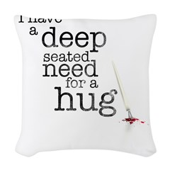 hug Woven Throw Pillow