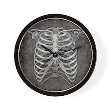 ribcage-grey_18x18hd Wall Clock