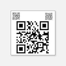 """twilight fan QR code by Twi Square Sticker 3"""" x 3"""""""