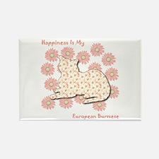 Burmese Happiness Rectangle Magnet