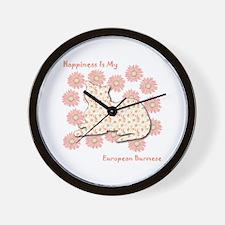 Burmese Happiness Wall Clock