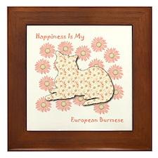 Burmese Happiness Framed Tile