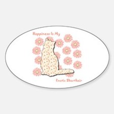 Shorthair Happiness Oval Decal