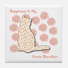 Shorthair Happiness Tile Coaster