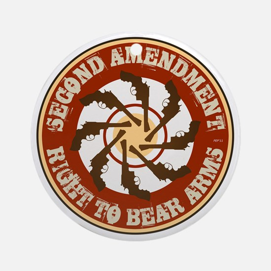 july11_right_to_bear_arms3 Round Ornament