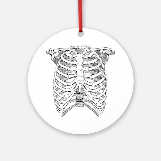 ribcage_tr Round Ornament