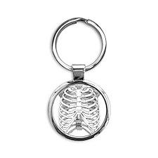 ribcage_tr Round Keychain