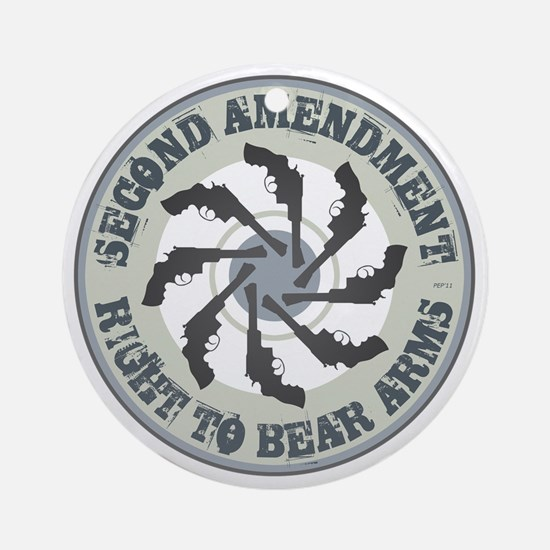 july11_right_to_bear_arms Round Ornament