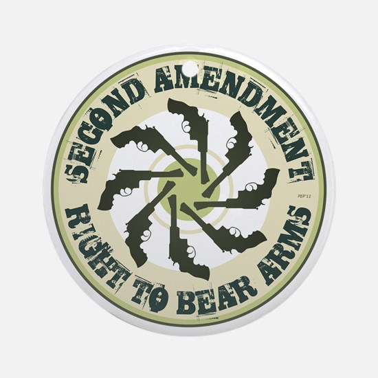 july11_right_to_bear_arms2 Round Ornament