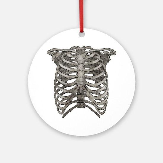 ribcage_grey Round Ornament