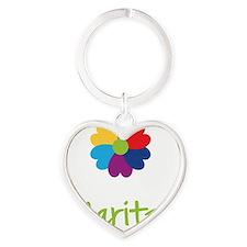 Maritza-Heart-Flower Heart Keychain