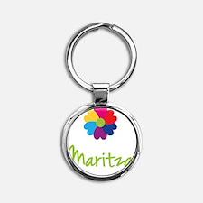 Maritza-Heart-Flower Round Keychain