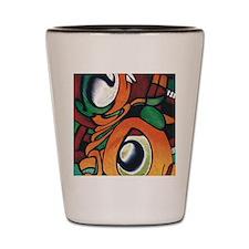 mayan eyes ipad Shot Glass