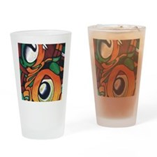 mayan eyes ipad Drinking Glass