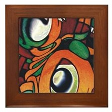 mayan eyes ipad Framed Tile