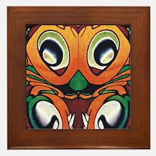 mayan eyes fflops Framed Tile
