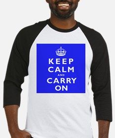 KEEP CALM and CARRY ON blue Baseball Jersey