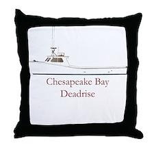 Chesapeake Bay Deadrise Boat Throw Pillow