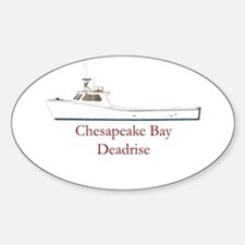 Chesapeake Bay Deadrise Boat Oval Decal