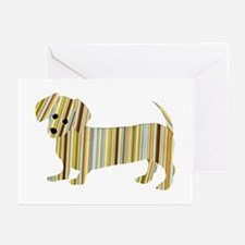 Striped Dachshund Puppy Greeting Cards (10 Pk)