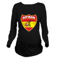 spain Long Sleeve Maternity T-Shirt