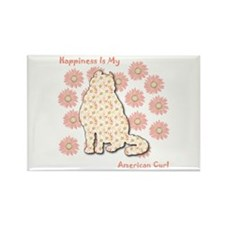 Curl Happiness Rectangle Magnet