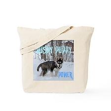 Husky Puppy Power Tote Bag