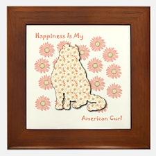 Curl Happiness Framed Tile