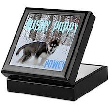 Husky Puppy Power Keepsake Box