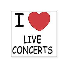 """LIVE_CONCERTS Square Sticker 3"""" x 3"""""""