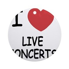 LIVE_CONCERTS Round Ornament