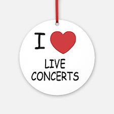 LIVE_CONCERTS Round Ornament