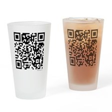 Mrs Edward Cullen QR code copy Drinking Glass