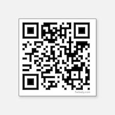 """Mrs Edward Cullen QR code c Square Sticker 3"""" x 3"""""""
