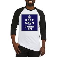 KEEP CALM and CARRY ON dark blue Baseball Jersey