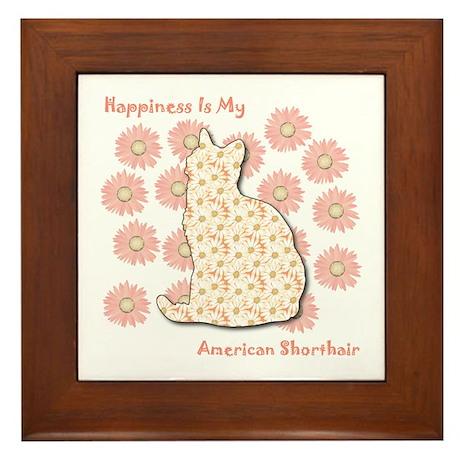 Shorthair Happiness Framed Tile